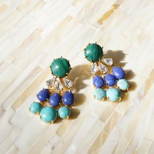 Lele Sadoughi Crystal Stone Earrings